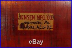 1940s Jensen #5 wooden base Electric Steam Engine, Working
