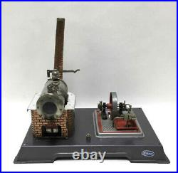 1950's 1960's Wilesco D12 German Live Steam Engine Model Antique Toy Kit