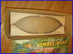 1950's Atwood Motors Steam Powered Jungle Boat with steam engine & original box ++