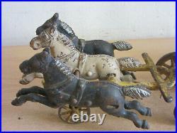 Antique Cast Iron Horse drawn Steam Pumper fire engine toy 14 Ives / Wilkins