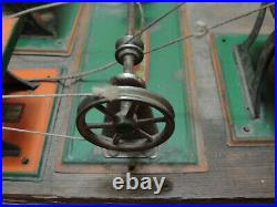 Antique Early 1900's WEEDEN Toy Saw Grinder Pulley System for Steam Engine