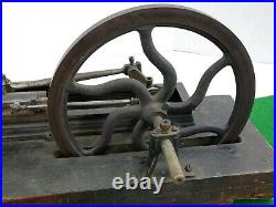 Antique Early 1900s Cast Iron Live Steam Engine Model Works Old Barn Find Rare