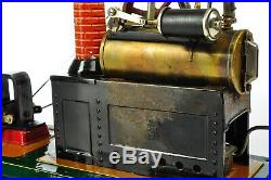 Antique German Geb. Bing Steam Engine Rare Model with Dynamo approx. 19025