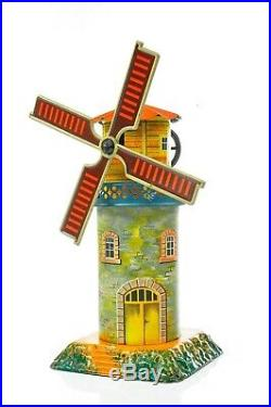 Antique German Geb. Bing Windmill with Music box Rare Model approx. 1925