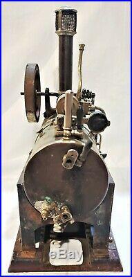 Antique Live Steam Engine Overtype Schoenner Falk Stamped 143F Dusty Barn Find