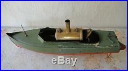 Antique toys Warship Steam engine Tin boat 1920 Year Marklin Bing Carette