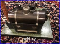 Bing Antique 130/383 Poppet Valve Uniflow Steam Engine German Lithographed Toy