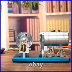 Blue All-metal Steam Engine Motor Model Education Physics Toy Stirling Steamer