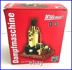 Brand new, never used WILESCO D3 toy steam engine with box 100% beautiful