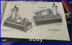 Complete A. C. Gilbert Erector 10064 Set Rocket Conveyor Plane Ride Steam Engine