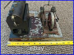 DC Doll Co Company Germany German Small Horizontal Steam Engine Vintage Parts