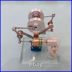 DIY Miniature Balance Stirling Engine Model Steam Science Experiment Toy Gift
