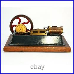EARLY 20TH C IRON & BRASS STEAM ENGINE DEMO MODEL Cast iron and brass horizontal