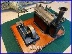 Early Jensen # Steam Engine Toy Vintage Wood Base