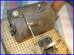 Early c1904 German Bing Vanna Live Steam Engine #13676, 12 w x 13 l x 21 h