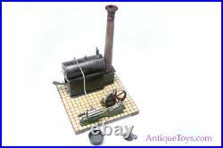 Gebrüder Bing Steam Engine Toy with Box German Steam Accessory