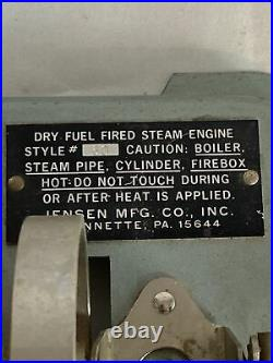 JENSEN 1930's DRY FUEL FIRED STEAM ENGINE STYLE #60, Jeannette, PA