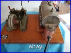 Jensen #55 twin cylinder steam engine model toy vintage cast iron