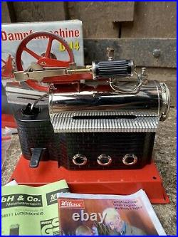 Live Steam Wilesco Stationary Engine Plant Model Static Toy D14