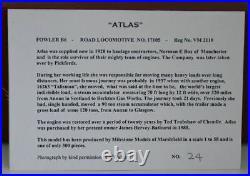 MIlestone Models 1/58 Atlas Fowler B6 Road Steam Locomotive 17105 Norman E Box