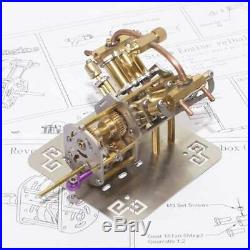 New Model Mini V4 Steam Engine Model with Reverse Gearbox Toy Creative Gift