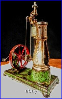 Old Antique Early Kenton Cast Iron Corliss Toy Steam Engine Vintage Motor Model2