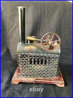 Old Carl Doll Steam Engine Steamtoy Tin Toy Steam Toys Tin-Toy Sheet Metal