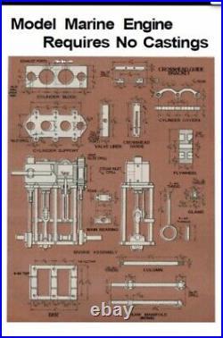 Old Vintage Antique Steam Marine Engine Unfinished Brass Compound Steam Model
