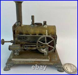 RARE Antique 1890 Weeden Tin and Brass Toy Steam Engine