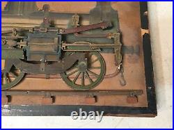 Rare Antique French Steam Locomotive Working Model Cutout Automaton Demo Toy