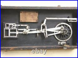 Rare Oz Antique Steam Engine Model Of Allan's Link Motion By E. A. Loughry Framed