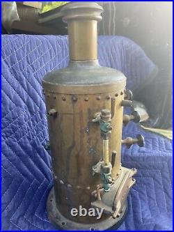 Rare Vertical Cylinder Brass Boiler / For Toy Steam Engine