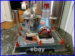 Rare Vintage 50s Marx Linemar Atomic Reactor Steam Engine Incomplete