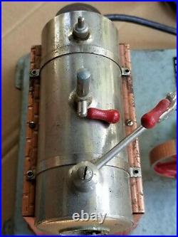 Rare Vintage Jensen MFG. Co. Steam Engine, Model #75, Working, New Plug, V. G. C