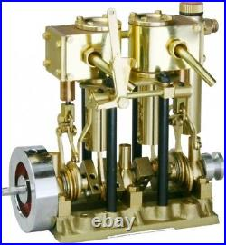 SAITO Steam Engine T2DR for Model Ship (2-cylinder, Short stroke) New from Japan