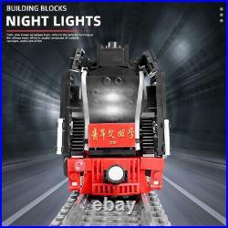 STEAM LOCOMOTIVE TRAIN Model Set Building Blocks DIY RC Toy Christmas Gifts Kids