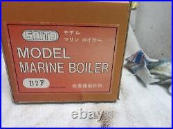 Saito Vee 4 Steam Engine, Boiler, Burner, Smoke Generater
