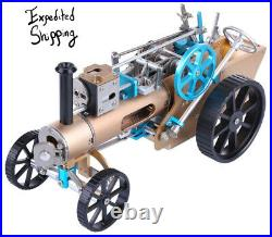 Steam Car Engine Model Metal Assembly Toy Rechargeable Mechanic Toy