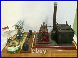 Steam Engine Twin Cylinder Doll Set up