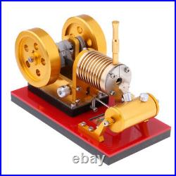 Stirling Engine Heat Steam Power Model Double-flywheel Device Education Toy