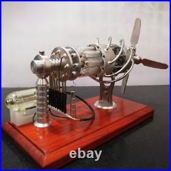 Stirling Engine Steam Motor 16 Cylinder Model Generator Quartz Educational Toy