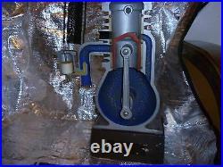 Two stroke engine model art deco steam engine combustion engine USSR soviet