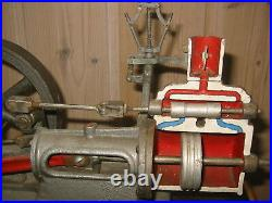 VINTAGE ANTIQUE TOY LARGE & heavy MODEL of a STEAM ENGINE motor