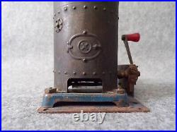 Vintage 1920's Meccano Vertical Boiler Live Steam Engine Antique Toy, Untested