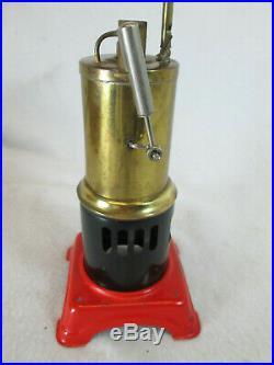 Vintage 1960s Fleischmann vertical stationary Live Steam Engine toy Germany