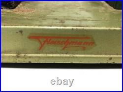 Vintage 50s Fleischmann Steam Engine with grindstone & Pulley Shaft West Germany