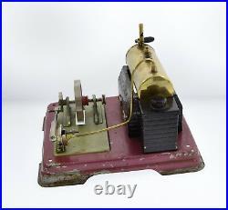 Vintage Fleischmann Metal Live Steam Model Train Engine