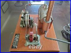 Vintage Jensen #20 steam engine on wood base