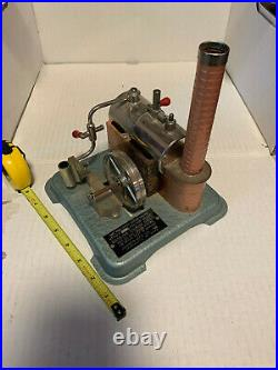 Vintage Jensen Steam Engine Style #76 Toy Dry Fuel Fired Pipe Fire Box Cylinder