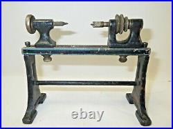 Vintage Marklin scale model cast iron lathe, accessory for model steam engine